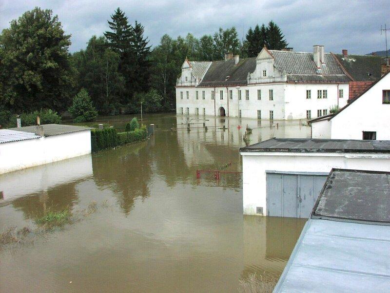 Povodeň v Kaplici v roce 2002