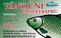 Vánoční prodej ryb