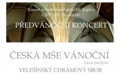 Předvánoční koncert - Česká mše vánoční J.J.Ryby
