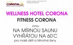 Mírná sauna ve wellness hotelu Corona