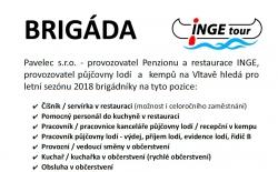 Nabídka brigády v INGE tour