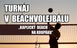 Turnaj v beachvolejbale