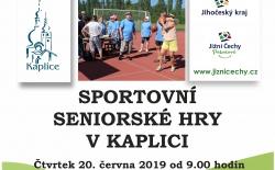 Sportovní seniorské hry v Kaplici